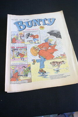 BUNTY Comic For Girls . Ideal Birthday Gift. No. 1324. May 28 1983