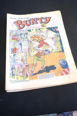 BUNTY Comic For Girls . Ideal Birthday Gift. No. 1186. october 4 1980.