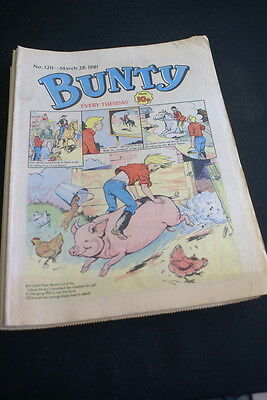 BUNTY Comic For Girls No. 1211. March 28 1981