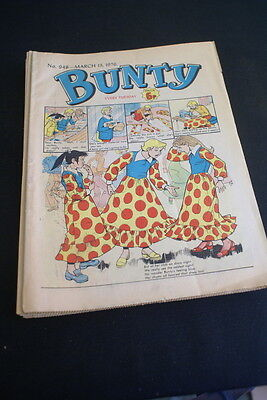 BUNTY Comic For Girls . Ideal Birthday Gift. No. 948. March 13 1976