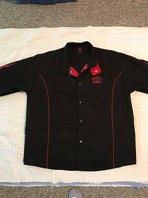 Revco BSX Flame Resistant Welding Jacket Black with Red Flames Size X-Large