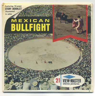 Mexican Bullfight Mexico Sawyer's View-Master Packet B-004