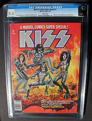 Marvel Comics Super Special #1 1st Solo KISS comic REAL BLOOD 1977 CGC NM 9.4