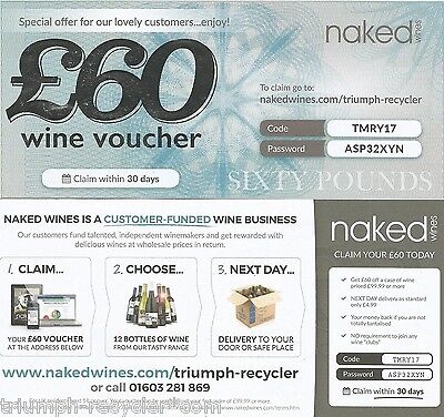 Naked Wines Wine £60 Discount / Gift Voucher Copy Code For Freè !