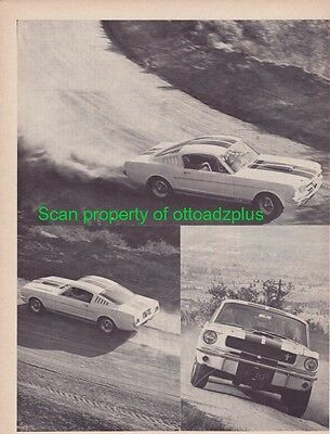 1965 Shelby GT350 - ORIGINAL 1965 4+ page road test - Very rare!!
