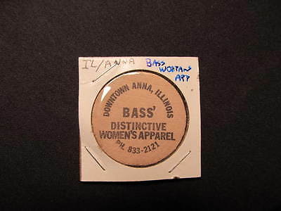 Anna, Illinois Wooden Nickel token - Bass' Distinctive Women Wooden Nickel Coin