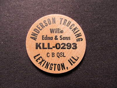 Lexington, Illinois Wooden Nickel token - Anderson Trucking Wood Nickel Coin IND