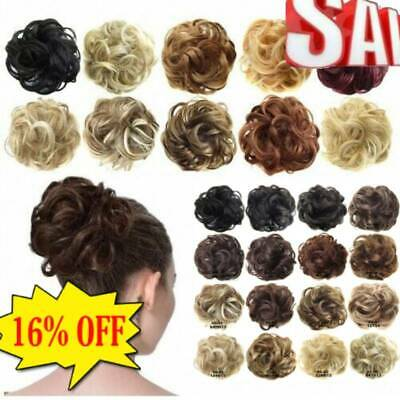 Synthetic Hair Flexible Scrunchie Wrap For Wave Curly Hair Bun Ponytail Beauty