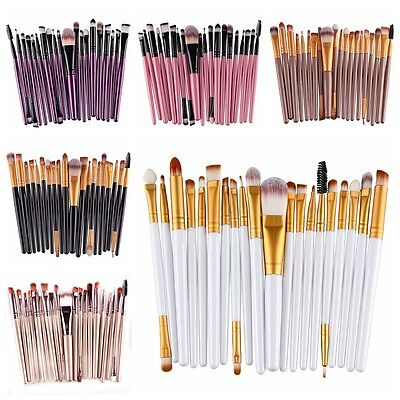 Set 20x Trousse Pinceaux Brosse Maquillage Cosmetique Brush Poudre Fard Teint NF