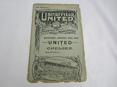 1909-10 RESERVES SHEFFIELD UNITED v GAINSBROUGH