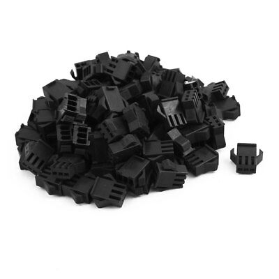 2.54mm Pitch Plastic 3 Way JST SM Female Connector Housing Shell Black 54Pcs