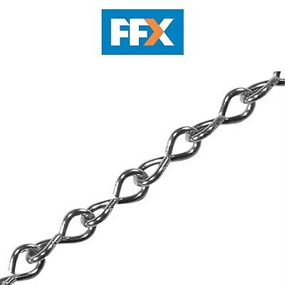 Faithfull FAICHJCUT16Z Jack Chain Zinc Plated 1.6mm x 2.5m