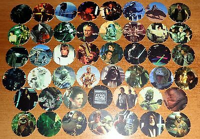POGS - V-SW-TAZ 46 001  Lot de 46 Pogs Tazos STAR WARS (1996) Neuf No double