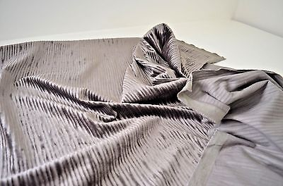Amazing High End Designer Cut Velvet In Deep Taupe Ss827