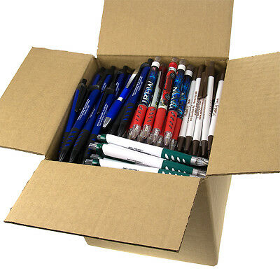 5lb Box of Assorted Misprint Ink Pens Ballpoint Retractable Office Bulk Lot