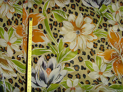 """160x44"""" rayon fabric material jungle floral print material jungle sewing chic"""