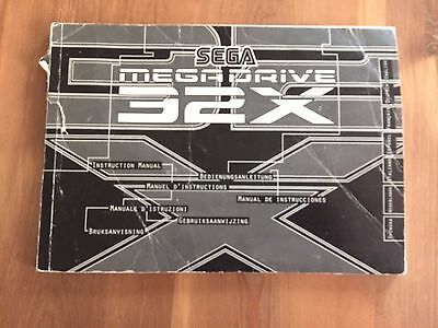 Sega Mega Drive X32 Console Manual ONLY