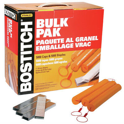 Bostitch CAPPAK-5M 1 in. Caps & Staples (5,000-Pack) New