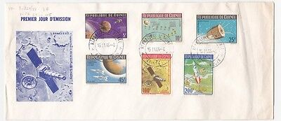Guinea 1965 Space Satellites Set Cachet First Day cover