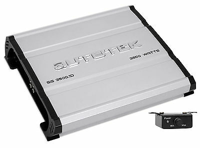 Autotek SS3500.1D Super Sport 3500w Mono Car Audio Amplifier Class D Amp+Remote