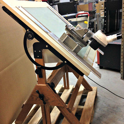 Hamilton Lighted Drafting Table with B &L StereoZoom Microscope
