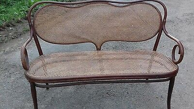 Antique French Bentwood Long Chaise From Brest France