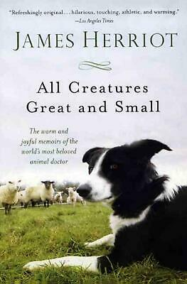 All Creatures Great and Small by James Herriot (English) Prebound Book Free Ship