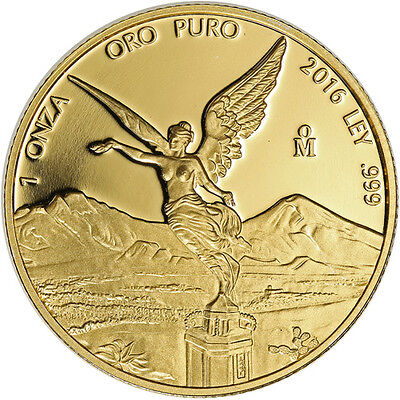 2016 1 oz Proof Mexican Gold Libertad Coin (In Capsule)