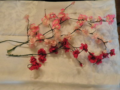 """Vintage Millinery Flower Collection 1"""" -2"""" Pink Cherry Apple Blossom   H1452"""