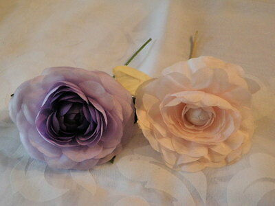 """Vintage Millinery Flower Collection 4"""" Pink Purple Lilac for Hat Hair  H1462"""