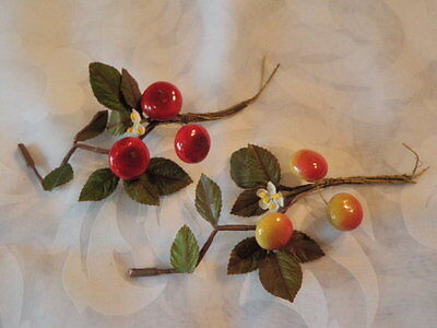 "Vintage Millinery Flower Collection 1/2- 3/4"" Fruit Berry Red Yellow H1469"