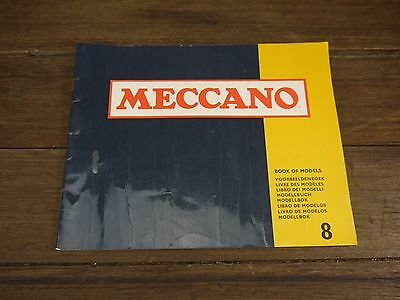 VINTAGE MECCANO BOOK OF MODELS No. 8 36pp ENGLAND INSTRUCTIONS