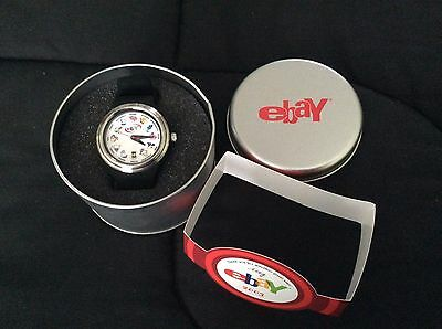 2003 eBay Employee Holiday Gift Watch in Silver Round Tin--Never Removed