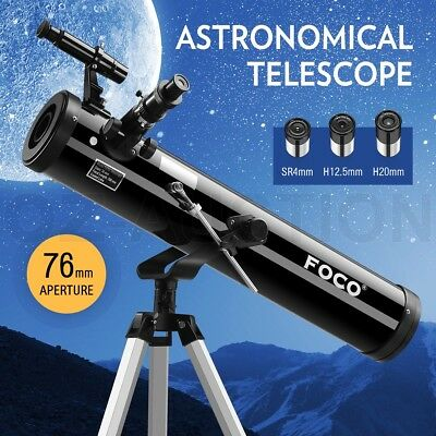 Astronomical Telescope 76mm Aperture 350x Zoom