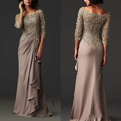New Long Evening Formal Party Mother of the Bride Women Formal Occasion Dresses