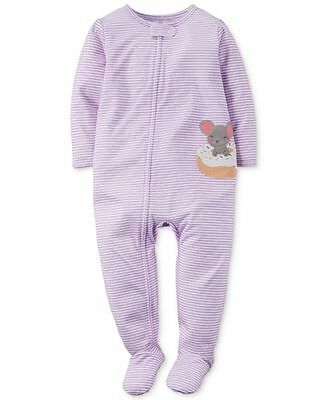 NWT ☀FOOTED☀ CARTERS  Girls  Pajamas   New MOUSE   24m