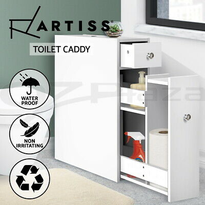 Bathroom Storage Caddy Utility Toilet Cabinet Tissue Box Holder Cupboard Cover