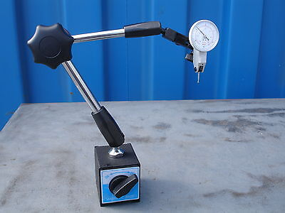 "Universal Arm Magnetic Base & 0-0.8mm/0-0.03"" Test Dial Indicator 60kgs Force"