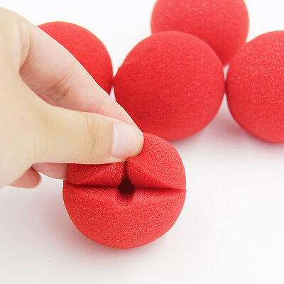 25pcs Red Foam Sponge Ball Clown Nose Circus Party Halloween Costume