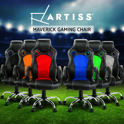 Artiss Gaming Chair Office Executive Computer Chairs Leather Seat Mesh
