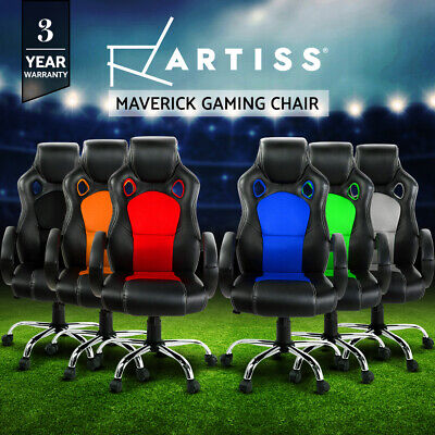 Artiss Gaming Office Chair Executive Computer Desk Chairs Leather Seat Mesh