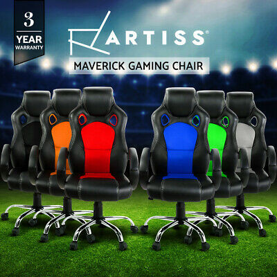Racing Office Chairs Sport Executive Computer Gaming Deluxe PU Leather Mesh 22