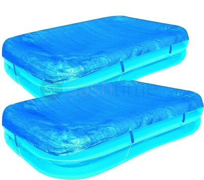 """Bestway Rectangular Swimming Paddling Pool Cover Garden Outdoor Family 110""""/120"""""""