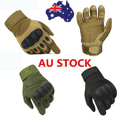 AU Full Finger Tactical Gloves Outdoor Sports Military Climbing Motorcycle Glove