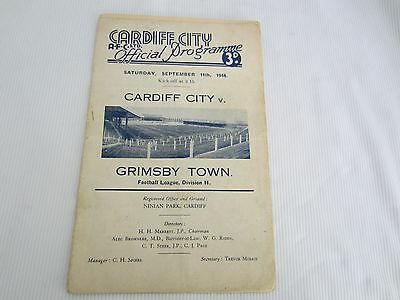1948-49 DIV 2 CARDIFF CITY v GRIMSBY TOWN