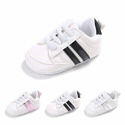 Baby Infant Toddler Boys Girls Sneakers Soft Sole Prewalker Crib Shoes Size0-18M