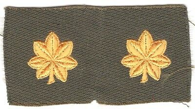 Cloth Military Badge:  Major (pair) - on gabardine