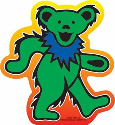 RARE Vinyl STICKER Decal The GRATEFUL DEAD Green Teddy DANCING BEAR S3026 Dancin