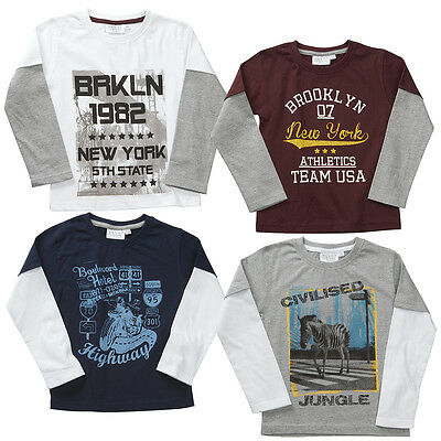 Boys Long Sleeve Top T-shirt Top Four Styles To Choose From 2-3 To 5-6 Years
