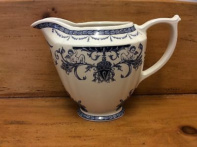 Vintage Blue & White Queen's China - The Royal Palaces - Milk Jug